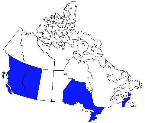 Canada License Map